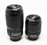 Пары объективов Nikon стоковое изображение