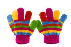 Пары перчаток детей Стоковые Изображения