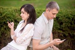 Пары поглощенные в связи телефона Стоковое Фото