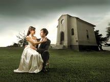 пары поженились Стоковые Фото