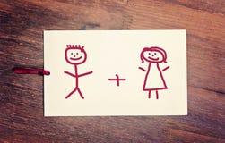 Пары поздравительной открытки Стоковые Изображения