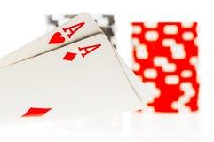 Пары покера тузов Стоковая Фотография