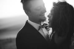 Пары портрета, природа влюбленности нежности Стоковые Фотографии RF