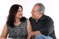 Пары постаретые серединой Стоковое фото RF