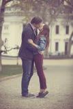 Пары подростка на улице Стоковые Фото