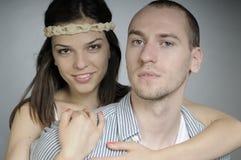 пары представляя белизну студии Стоковые Изображения