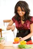 Пары: Прерывать перцы для салата Стоковые Фото