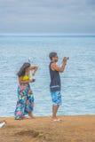 Пары принимая пипу Бразилию фото Стоковые Изображения RF