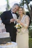 Пары провозглашать каннелюры Шампани Стоковая Фотография RF