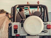Пары путешествуя автомобилем Стоковая Фотография RF