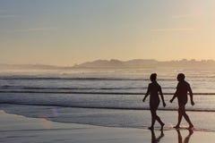 пары пляжа Стоковое Фото