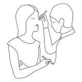 Пары рисовать людей иллюстрация вектора