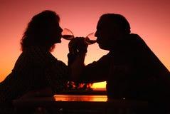 пары романтичные Стоковые Изображения RF