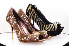 2 пары роскошных ботинок Стоковая Фотография RF