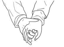 Пары рука об руку иллюстрация штока