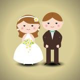 Пары свадьбы Стоковое Изображение