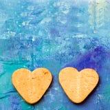 Пары сердец печенья Стоковые Изображения RF