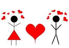 Пары 2 сердца Стоковые Изображения RF