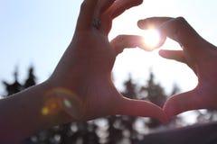 Пары - сердце Стоковая Фотография RF