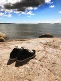 Пары сиротливых ботинок Стоковая Фотография RF