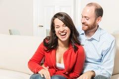 Пары совместно имея потеху Стоковое Изображение