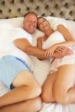 пары спальни ослабляя Стоковое Изображение