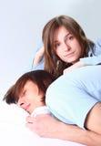 пары спальни Стоковое Изображение RF