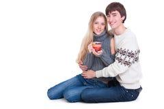 пары справляются счастливые детеныши усаживания стоковое изображение rf