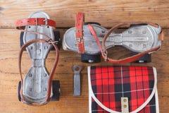Пары старых коньков Стоковое фото RF