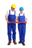 пары строителя выравнивают Стоковые Изображения RF