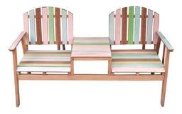 пары стулов изолировали старую белую древесину Стоковые Изображения