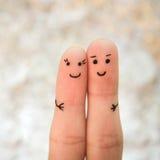 пары счастливые Человек и объятие женщины Стоковое Изображение RF