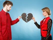 Пары с прекращать разбитого сердца Стоковые Изображения