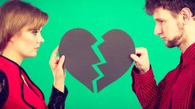 Пары с прекращать разбитого сердца Стоковая Фотография RF