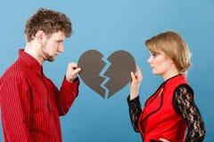 Пары с прекращать разбитого сердца Стоковое фото RF