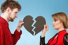 Пары с прекращать разбитого сердца Стоковые Фотографии RF