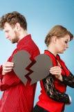 Пары с прекращать разбитого сердца Стоковое Изображение RF