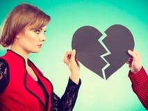 Пары с прекращать разбитого сердца Стоковая Фотография