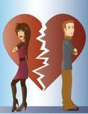 Пары с разбитым сердцем иллюстрация штока