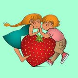 Пары с сердцем Стоковое Изображение RF
