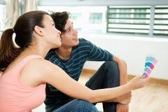 Пары с Swatch цвета Стоковая Фотография RF