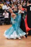 Пары танца бального зала, танцуя на конкуренции Стоковая Фотография RF