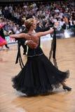 Пары танца бального зала, танцуя на конкуренции Стоковое Изображение