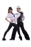 Пары танцевать танцоров Стоковые Изображения