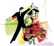Пары танцев латиноамериканца Стоковая Фотография