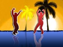 Пары танцев стоковое изображение rf