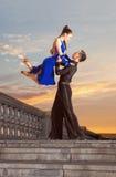 Пары танцоров танцуя бальный зал Стоковое Фото