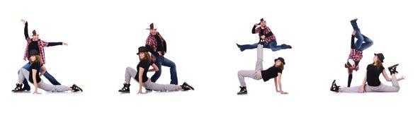 Пары танцоров танцуя современные танцы Стоковое Изображение RF