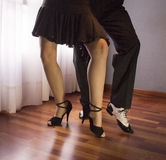 Пары танцоров Танцы сальсы Стоковые Изображения RF
