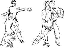 пары танцульки Стоковые Изображения RF
